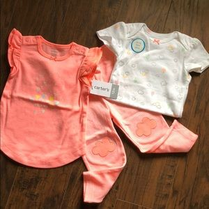 🆕 Carter's NWT 3 Piece Outfit Set 🌸